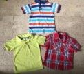 Футболки и рубашка на мальчика 3-4 лет
