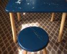 Детский табурет и стол
