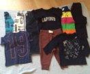 Gap и Ralph Louren лонгсливы, джинсы, футболка