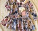 Monnalisa платье с цветочным принтом