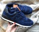 Мужские кроссы синяя замша