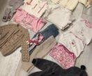 Большой пакет одежды и обуви на девочку 6-12 мес