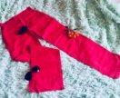 Легкие льняные брюки на 46