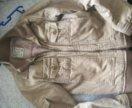 Вельветовая бежевая куртка