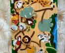 Деревянный лабиринт с животными