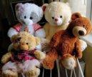 Мягкие игрушки медведи большие 4 штуки