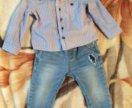 Рубашка джинсы