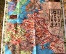 Платок с изображением карты сражений ВОВ