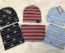Новые шапка и снуд для мальчиков