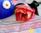 Весенний тюльпан - брошь