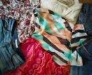 Шорты джинсовые ZARA блузка платье