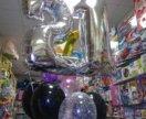 21 ый день рождения шарики гелевые 7шт
