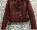 Новая кожаная куртка косуха с кармашком 3цвета