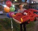 Машина Молния Маквин из воздушных шариков