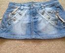 Джинсовая юбка .26 размер
