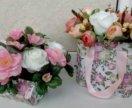 подарочные композиции с цветами из мыла...