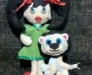 Куклы из фетра и питомцы
