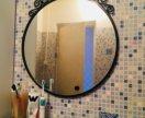Зеркало и полка стеклянная