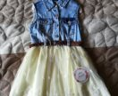 Платье с пышной юбкой 92р