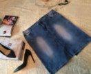 Женская джинсовая юбка 54-56 размер
