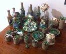 Морские сувениры из песка и ракушек