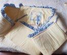 Обкладка в детскую кроватку+кармашки для мелочей