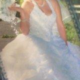 Шикарное свадебное платье. Фото 2.