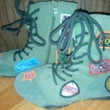 Ботинки тканево-замшевые. Фото 1.