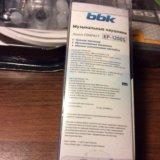 ✅синие компактные наушники-вкладыши bbk ep-1200s. Фото 4.