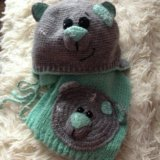 Комплект шапка и шарф. Фото 2.