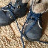 Зимние ботинки кожа и овчина. Фото 1.