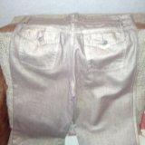 Золотистые джинсы roberto cavalli. Фото 2.