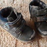 Зимние ботинки кожа и овчина. Фото 2.