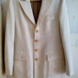 Пальто - пиджак gfferre мужское 52 белое шерсть. Фото 1. Москва.