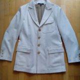 Пальто - пиджак gfferre мужское 52 белое шерсть. Фото 2. Москва.