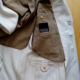 Пальто - пиджак gfferre мужское 52 белое шерсть. Фото 3. Москва.