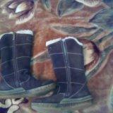 Сапожки натуральный замш на меху. Фото 2.