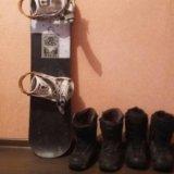 Сноуборд+ботинки. Фото 4.