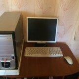 Компьютер с монитором. Фото 1.