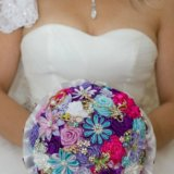Брошь букет для невесты на свадьбу. Фото 2.