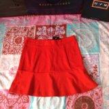 Новая красная юбка колокольчик. Фото 1.