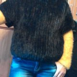 Джемпер из вязаной норки новый. Фото 2. Москва.