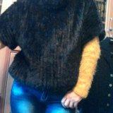 Джемпер из вязаной норки новый. Фото 3. Москва.
