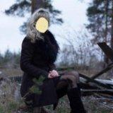Пальто весеннее с натуральным мехом. Фото 1. Бор.