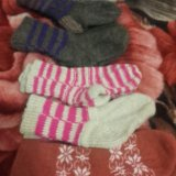 Пуховые детские носочки. Фото 1.