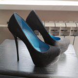 Как новые туфли  35 -36 р замша натуральная обмен. Фото 2. Москва.