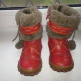 Зимние сапоги шаговита нат.кожа нат.мех размер 25. Фото 2.