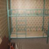 Кровать двухьярусная металлическая. Фото 1.