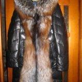 Пальто из натуральной кожи с мехом лисы. Фото 2. Киров.