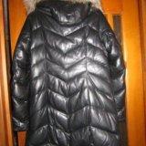 Пальто из натуральной кожи с мехом лисы. Фото 1. Киров.